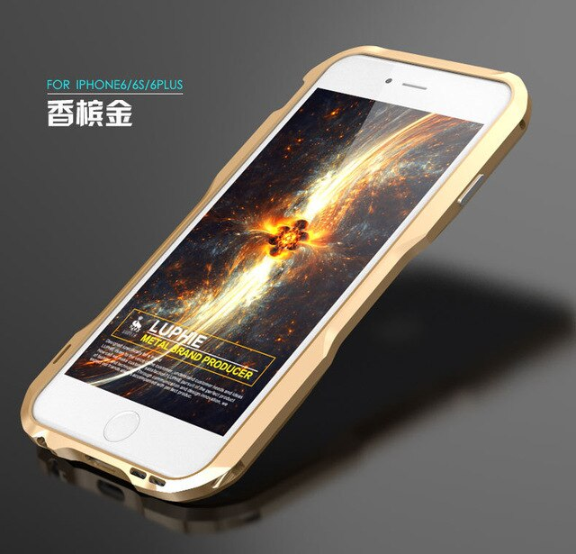 Metal Bumper for iPhone 6s Plus Case Cover Luxury Aluminum Frame Armor Brand Phone Cases for iPhone 6 s plus Cover Accessories