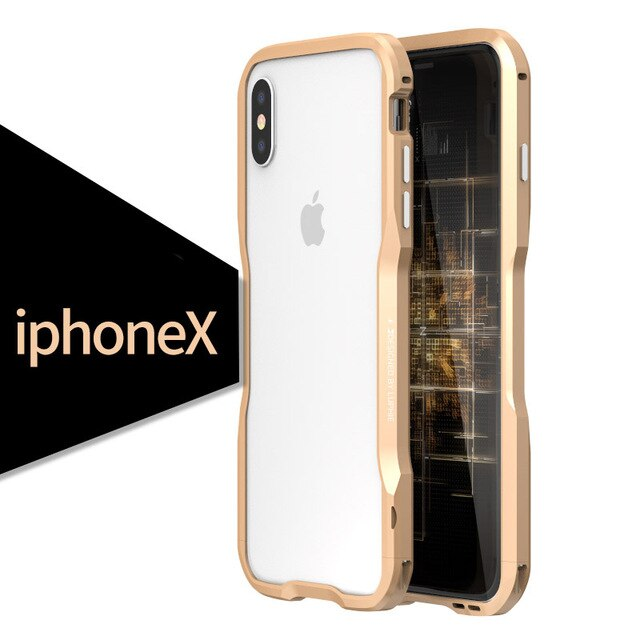 Metal Bumper for iPhone X Case 10 Aluminum Frame Luxury Shell Shockproof Phone Cases for iPhone XS MAX XR Hard Case Accessories