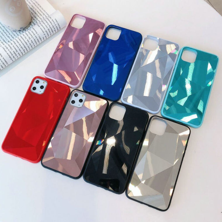 100pcs/lot For iPhone 11 Pro Max XR XS Max Bling 3D Diamond Glitter Hard Back Case For iPhone 8 Plus 7 Plus 6S Plus