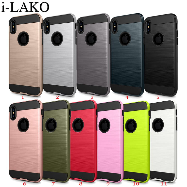100pcs/lot For iPhone XR XS MAX Case 2 in 1 Anti-Shock Impact Hybrid Removable Rugged Hard Case For iPhone X 8 7 6S Plus