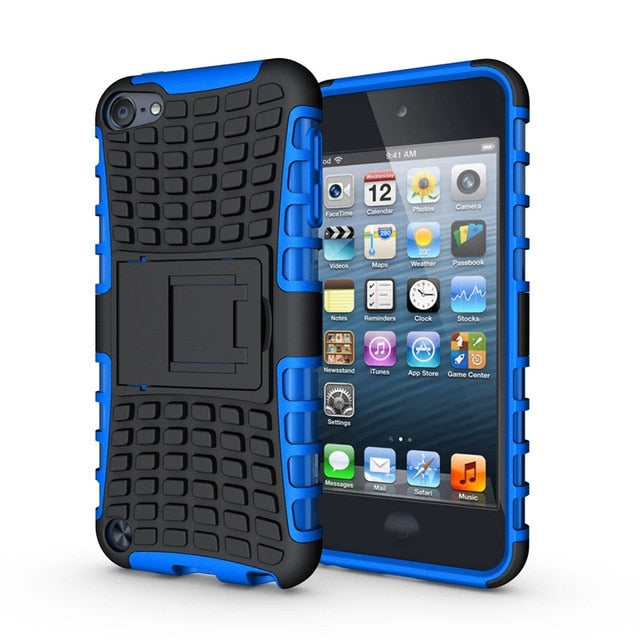 100pcs/lot For iPod Touch 5 5th & 6th 2 in 1 Series Spider Hybrid PC+Silicone Case Cover For iPhone 4S 5S SE 6S PLUS 7 PLUS