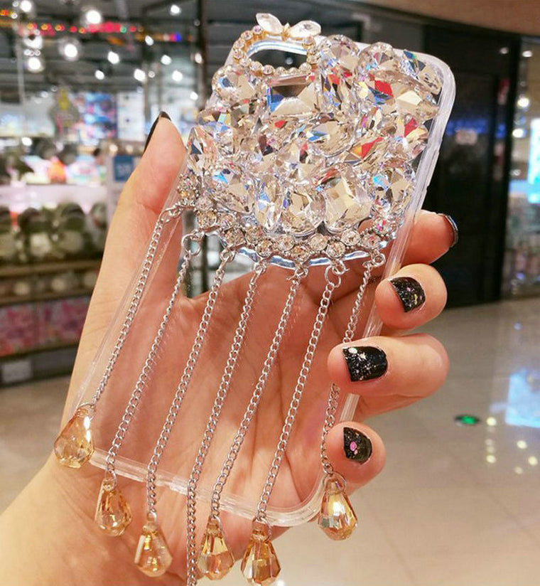 10pcs/lot For iPhone 11 Pro Max 8 7 6S Plus Case Diamond Rhinestone Glitter Hard Case For iPhone XR Xs Max