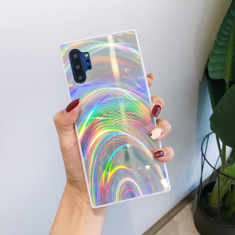 100pcs/lot Laser Aurora Mirror Rainbow TPU Cove for Samsung S20 Plus Ultra Note 10 10Pros s10 Plus s8 s9 Plus A20 A50 A70