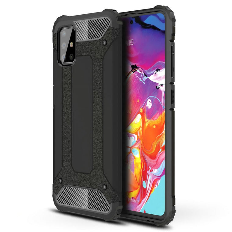 30pcs/lot Impact Resistant Detachable Hard Case For Samsung Galaxy A51 TPU+PC Hybrid Armor Case