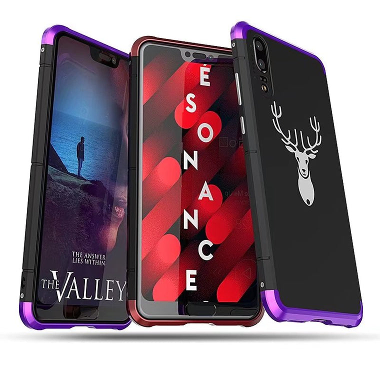 2018 Luxury Metal Frame For HUAWEI P20 Case 3in1 Shockproof Aluminum Bumper + PC Slim Back Cover For HUAWEI P20 Pro Phone Case