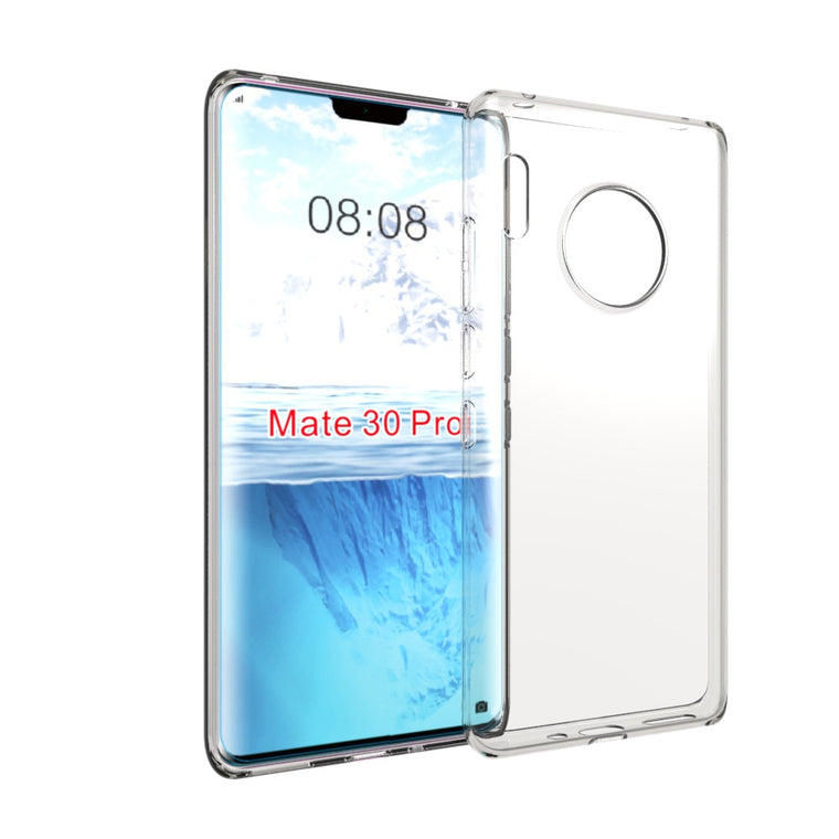 100pcs/lot High quality transparent smooth Soft TPU Cover Case For Huawei Mate 30 Pro