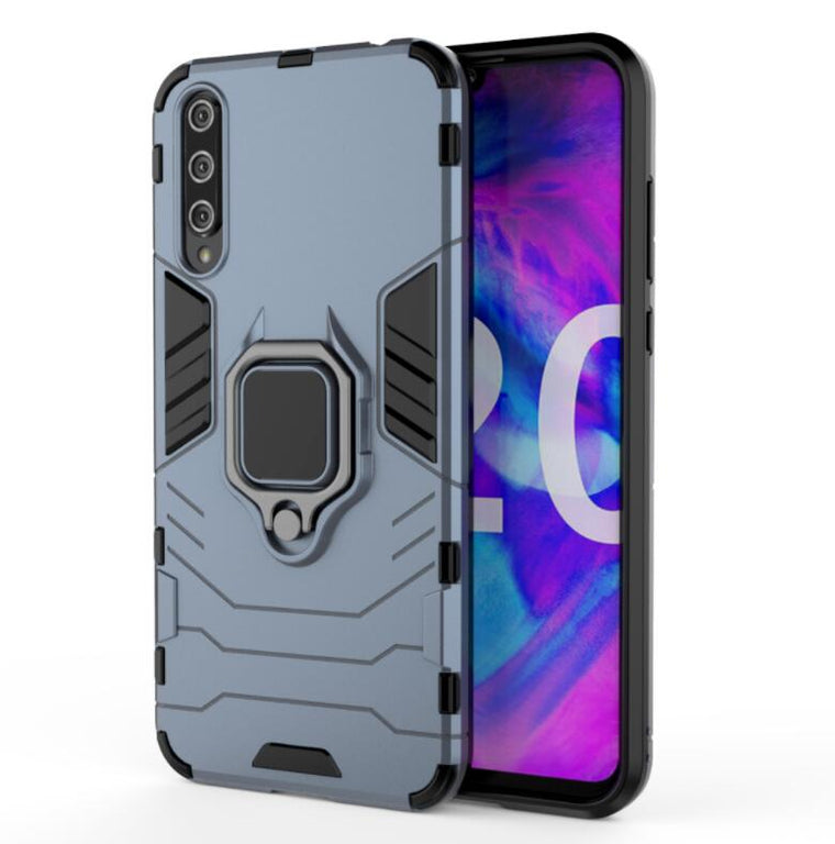 100pcs/lot With Ring Stand 2 in 1 Hard Armor Case Plastic + TPU Cove For huawei Enjoy 10S Honor 20Lite Honor 20Pro Nova 6 6SE