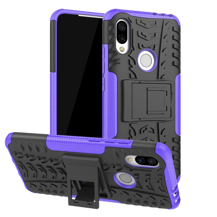 30pcs/lot For Redmi Note 8 Pro Redmi K20 Pro Case Silicone Tyre Heavy Duty Armor Hard Case with Stand For Xiaomi 9T Redmi 7A 7