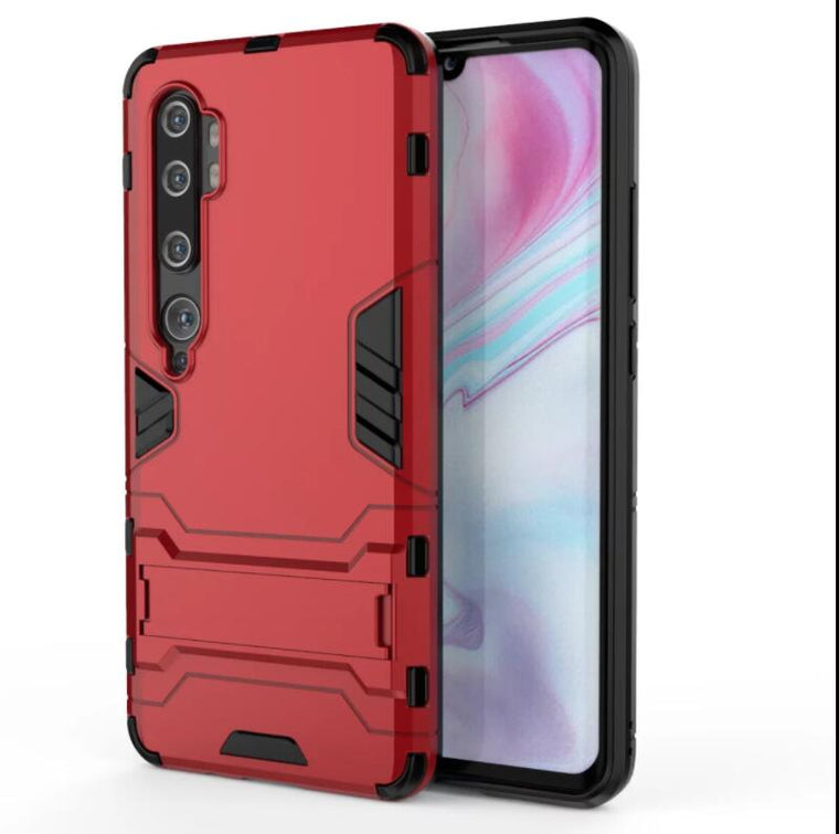 50pcs/lot Stand PC +TPU 2 in 1 Hybrid Armor Case For xiaomi Note10 CC9Pro Redmi Note 8Pro Note 8 Redmi Note 8T