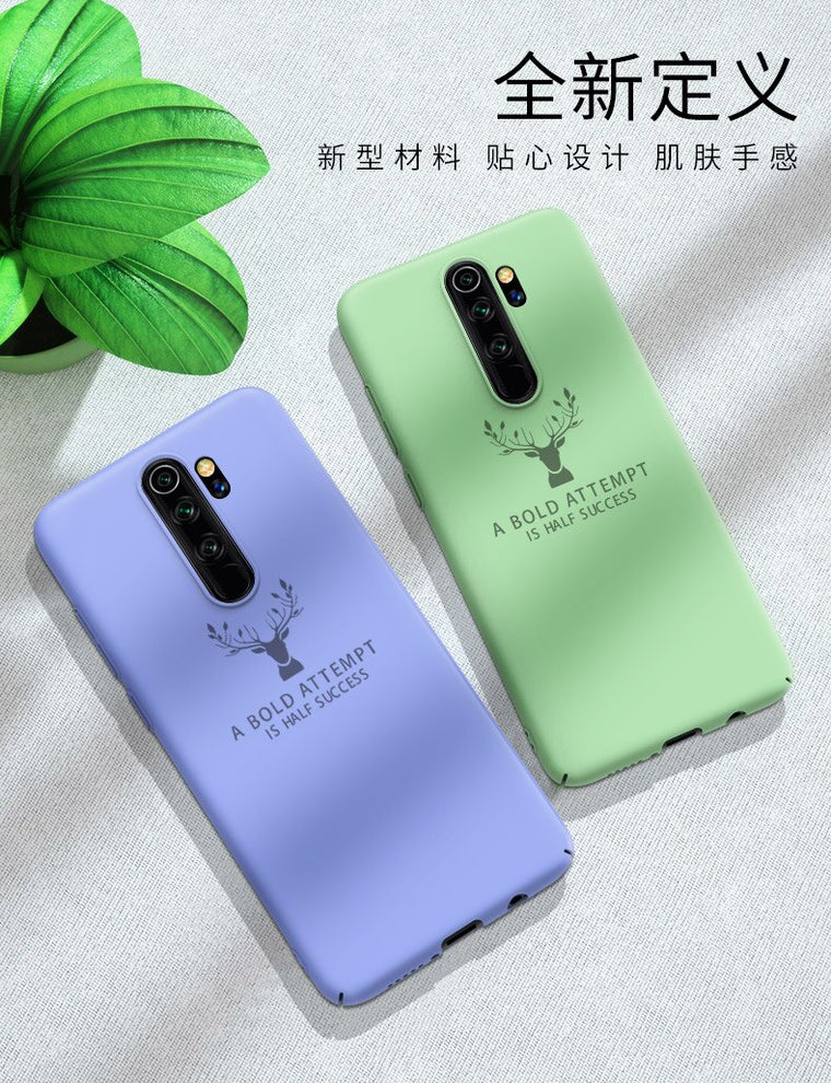 100pcs/lot Luxury Elk Deer PC hard Back Cover For Xiaomi Redmi Note 8 Note 8 Pro