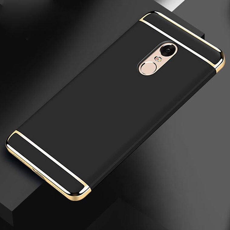 10pcs/lot Electroplated 3 in 1 cover Case For Xiaomi redmi note 7 6 5 pro 8 9 se lite 6A 6X A2 lite