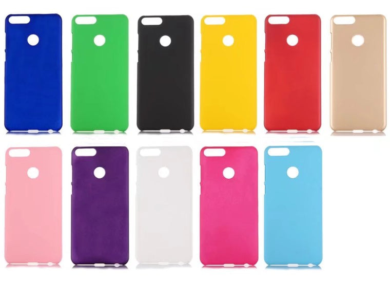 100pcs/lot free shipping Rubber Matte Hard Back Case For huawei Honor 9 lite/Enjoy 7S/For huawei P smart/Honor 9PRO