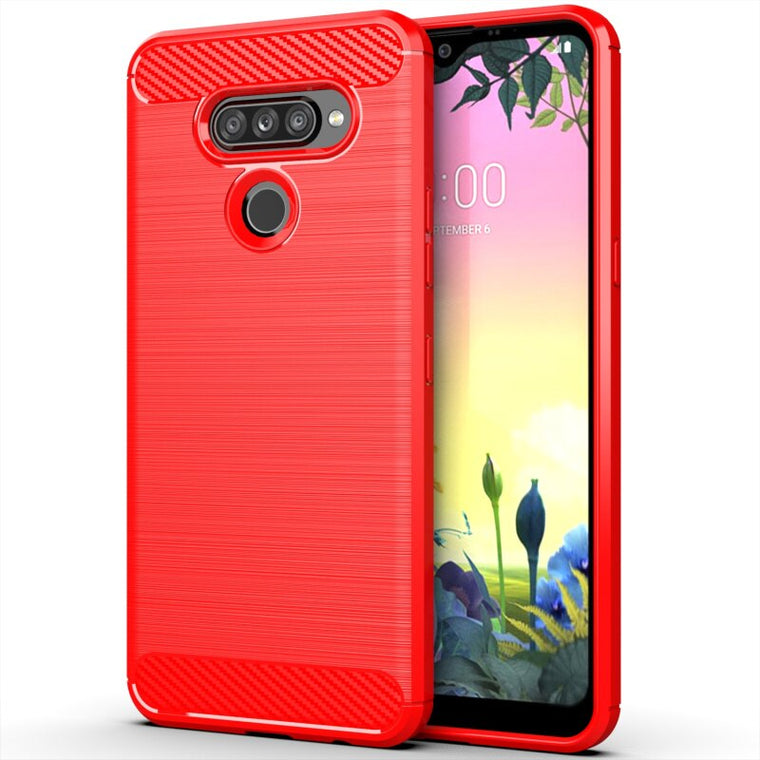 200pcs/lot For LG K50S Soft Anti-Scratch Carbon Fiber Brushed Shockproof TPU Case For LG V60 ThinQ