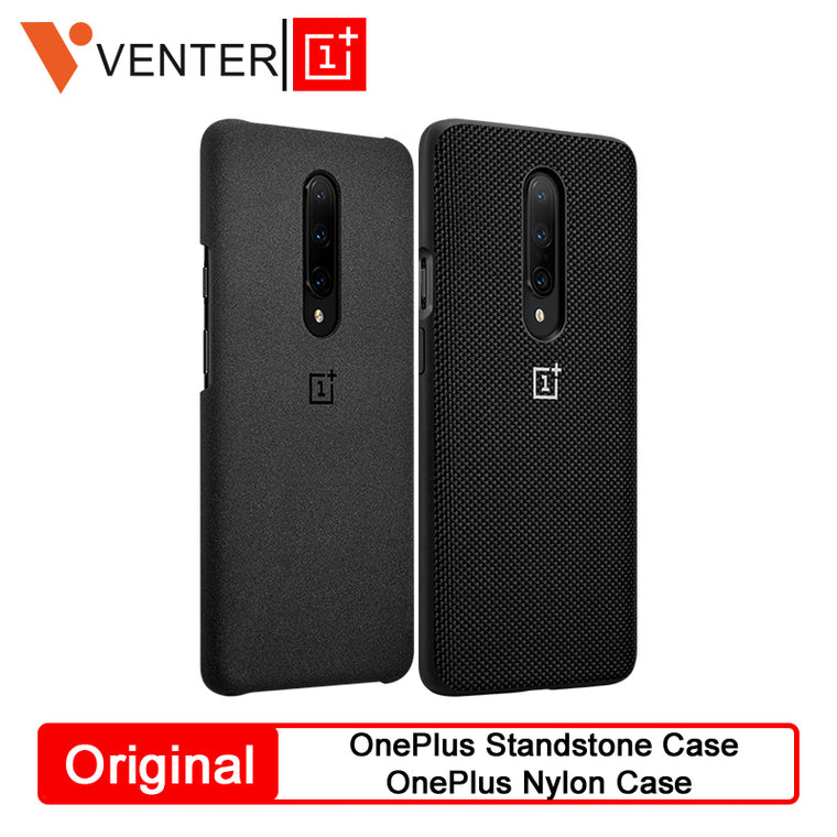 Original OnePlus Protective Case For OnePlue 7 Pro Standstone Case Nylon Case OnePlus Phone Genuine Protective Back Skin Cover