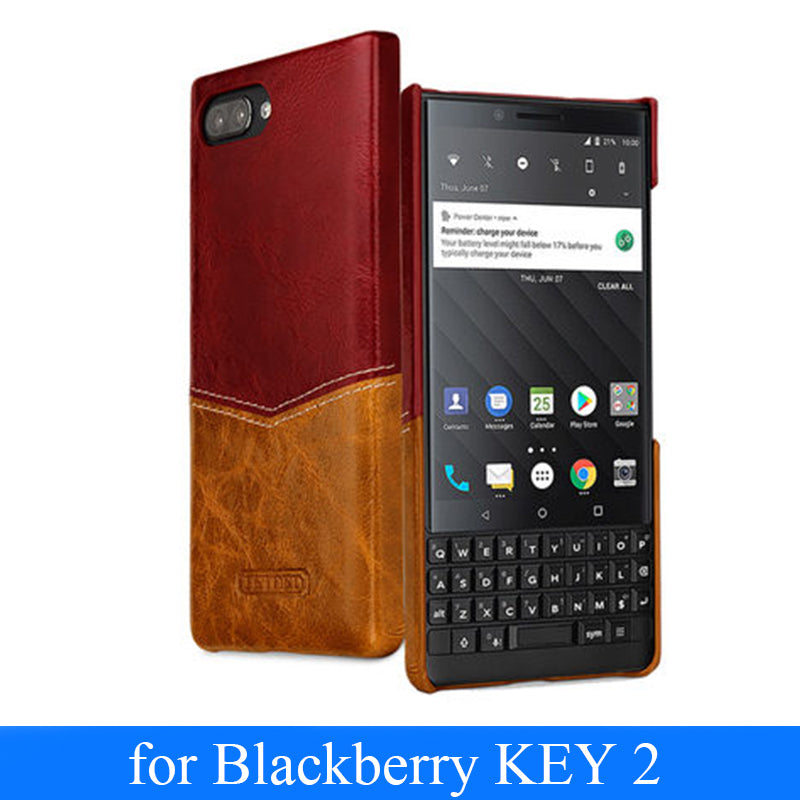 Original Fashion Pattern Genuine Leather Case For Blackberry KEY2 Slim Phone Cover for Coque Blackberry KEY 2 Key Two Bag Fundas
