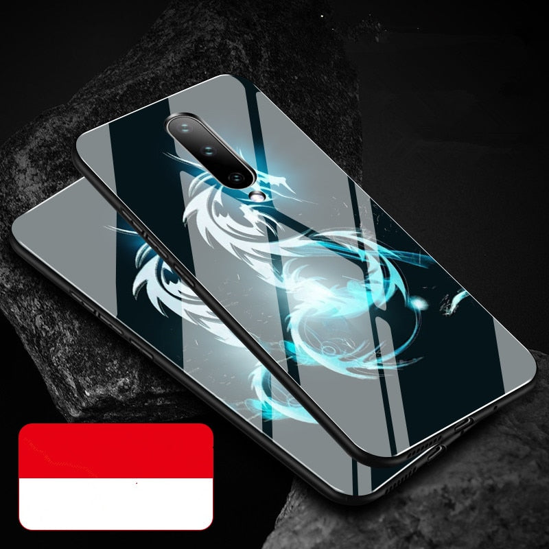 Oneplus 7 case hard shock-Proof for Oneplus 7 Pro 1+7 Tempered Glass Back Cover Protective anti-Scrach one plus 7 pro case