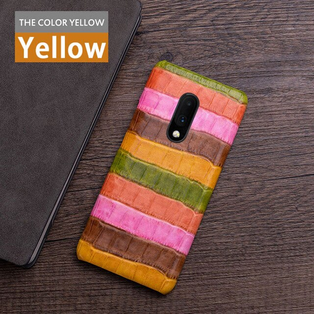 Genuine leather Phone Case For Oneplus 7 7T Pro 6 6T Case For oneplus 3 3T 5 5T Cowhide paint texture Back cover
