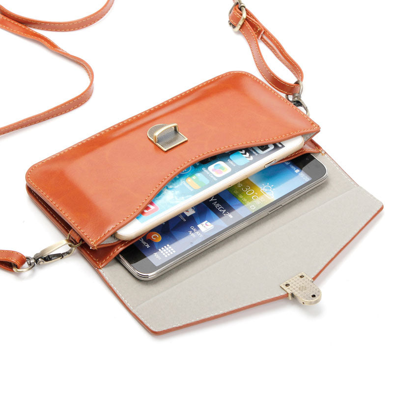 Luxury Colorful Phone Bag Universal PU Leather Pouch Crossbody Small Bags for Below 6.3'' Mobile Phones Case Women Fashion Pouch