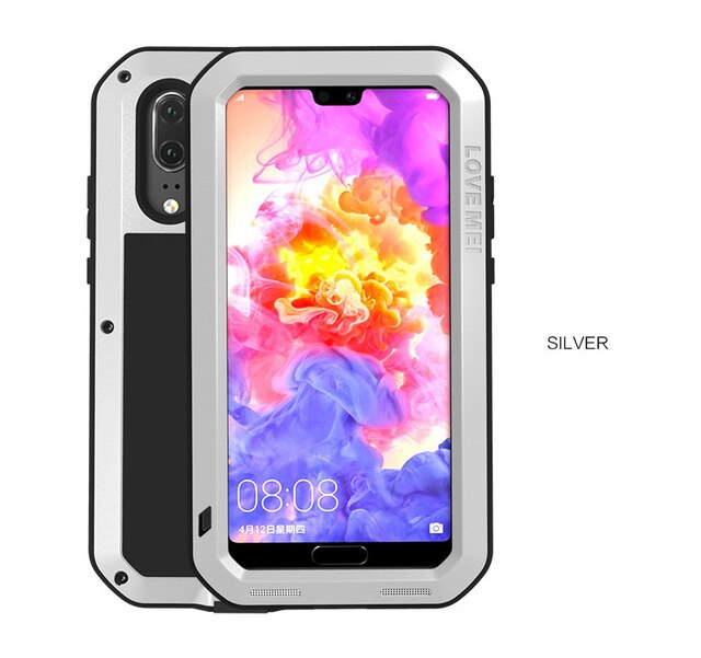 LOVE MEI Metal Waterproof Case For Huawei P20 Shockproof Cover For Huawei P20 Pro P20 Case Aluminum Protection P20 Gorilla glass