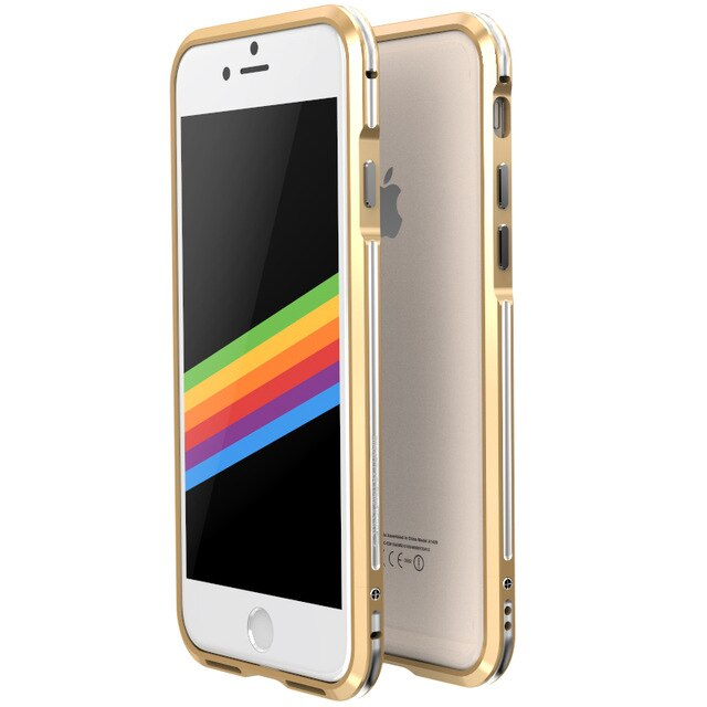 "Luxury Deluxe Ultra Thin Shock-Proof aluminum Bumper for iPhone 8 8 Plus 4.7"" 5.5"" Protective Case ( Free 1 Rear Sticker )"