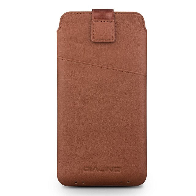 QIALINO Leather Case For Samsung Galaxy S8 Plus Luxury luxury Genuine Leather Bag Cover For Samsung S8+ Wallet Pouch Card Slot