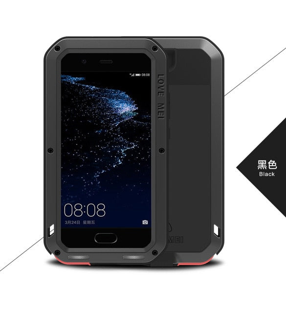 LOVE MEI Metal Waterproof Case For Huawei P10 Shockproof Cover For Huawei P10 Plus Case Aluminum Protection P10 Gorilla glass