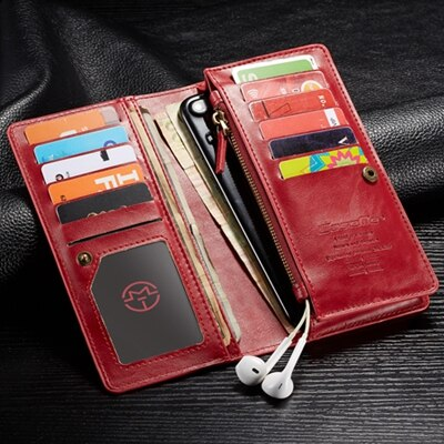 For Huawei Honor 8X Case Huawei Honor8X Case Genuine Leather Zipper Wallet Phone Case For Huawei Honor 8X 8 X Case Capinha