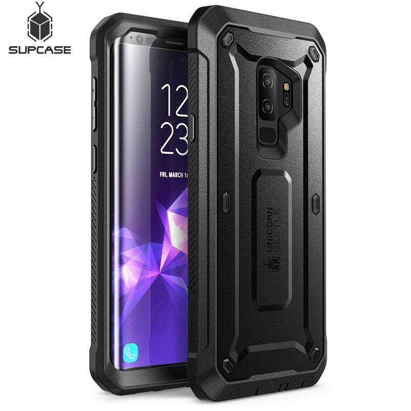 For Samsung Galaxy S9 Plus Case SUPCASE UB Pro Full-Body Rugged Holster Protective Case with Built-in Screen Protector Cover