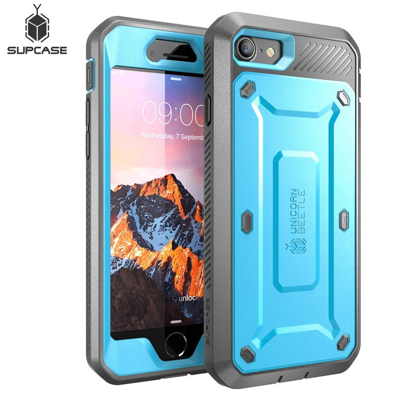 SUPCASE For iphone 8 Case 4.7 inch UB Pro Series Full-Body Rugged Holster Protective Case Cover with Built-in Screen Protector