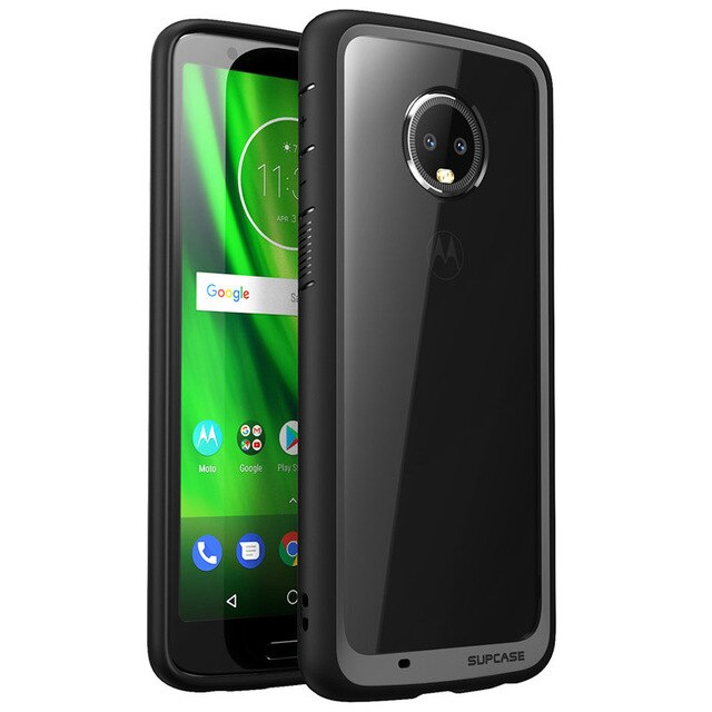 SUPCASE For Moto G6 Plus Case UB Style Series Anti-knock Premium Hybrid Protective TPU Bumper + PC Clear Back Cover Phone Case