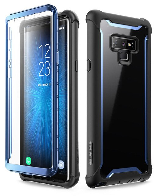i-Blason For Samsung Galaxy Note 9 Case 2018 Ares Series Full-Body Rugged Clear Bumper Case with Built-in Screen Protector
