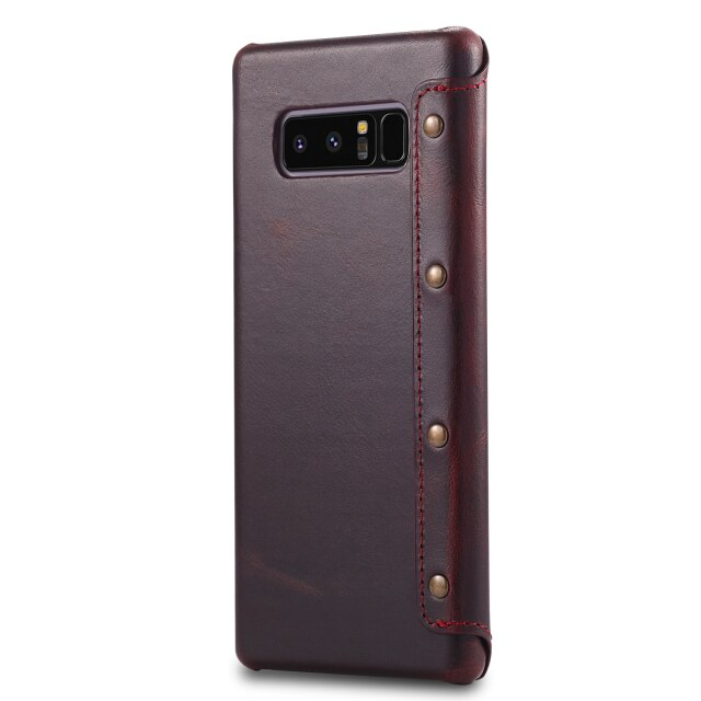 Luxury Real Leather Etui For Coque Samsung S10 Case S10Plus Samsung Galaxy S9 S10 Plus Flip Cover for Samsung Note 9 Case S10e +