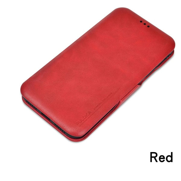PU Leather Wallet Case for iPhone 6s 7 8 plus with card slot holder stand & Money Pocket flip silicone soft cover for XR XS XMAX
