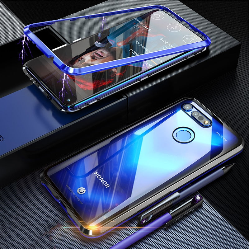 Original BOBYT Metal Case For Huawei Honor View 20 V20 Clear Tempered Glass & Aluminum Bumper Cover For Honor View 20 View20 V20