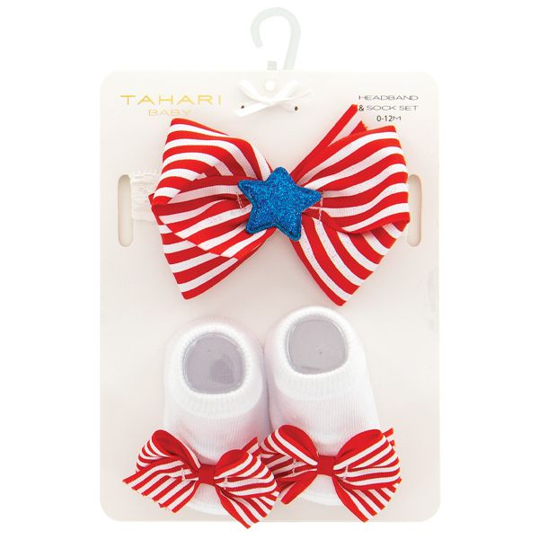 American Baby Headband and Sock Set