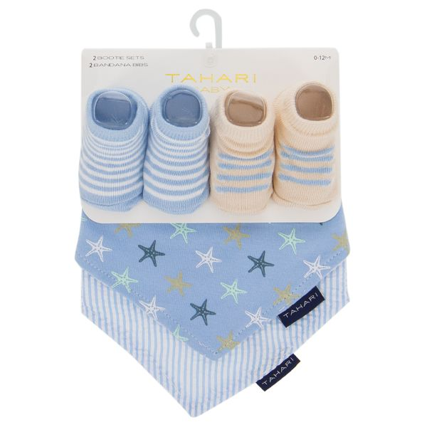 Baby Bandana Bib and Sock set - Starfish