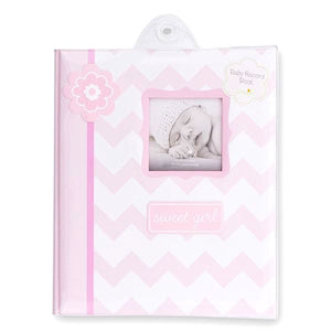 Pink Chevron Baby Book- Sweet Girl