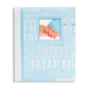 Dream Big Wordplay Baby Record Book - Blue