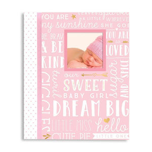 Dream Big Wordplay Baby Record Book - Pink