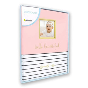 Hello Beautiful Baby Book Pink