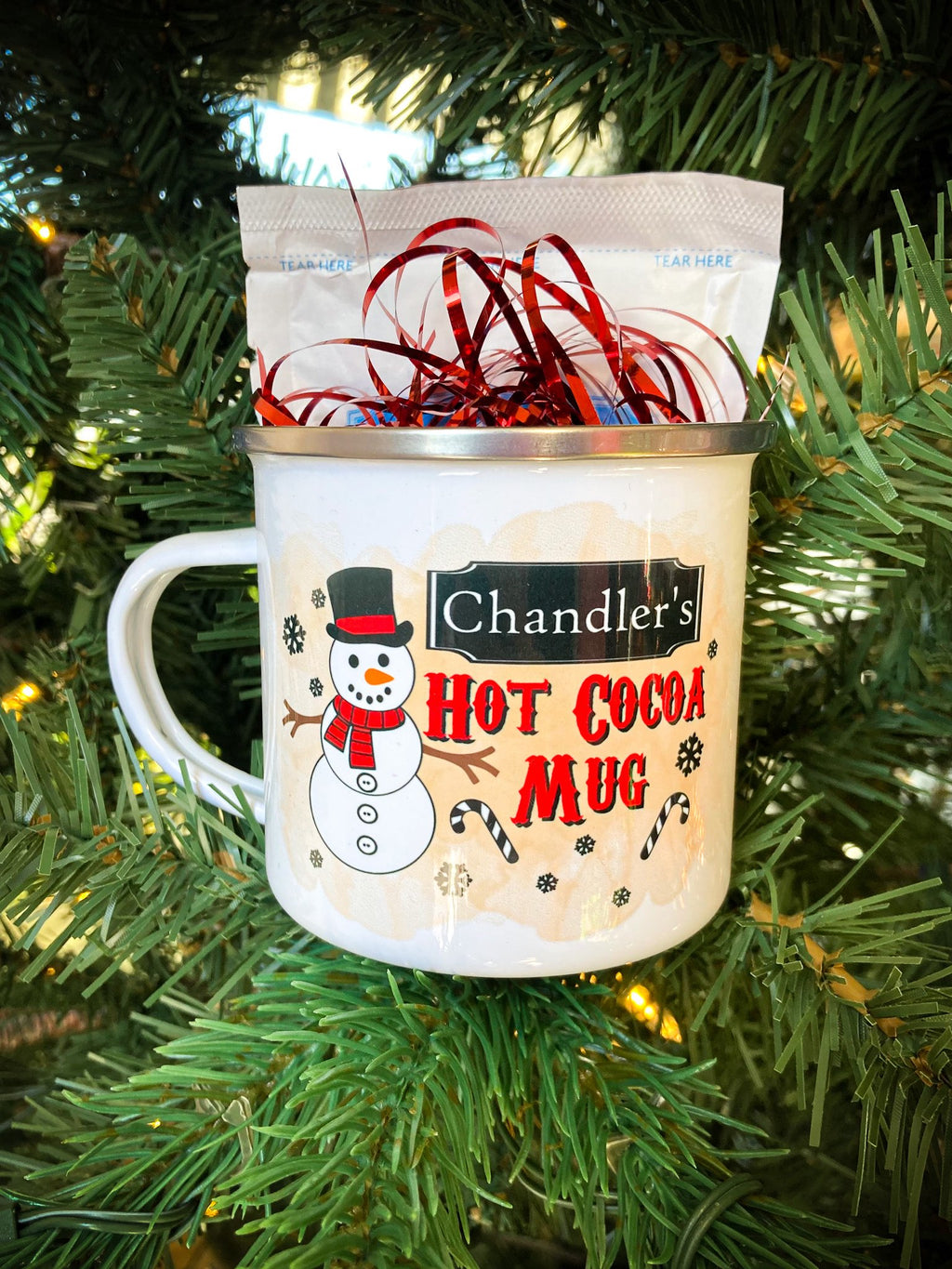 Custom Kids hot cocoa camping mug