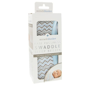 Miracle Swaddle Blanket - Blue, Gray, Pink