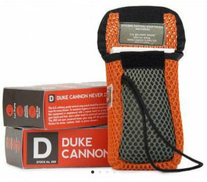 Duke Cannon bar soap holder on a rope