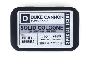Duke cannon solid cologne - vetiver and oakmoss