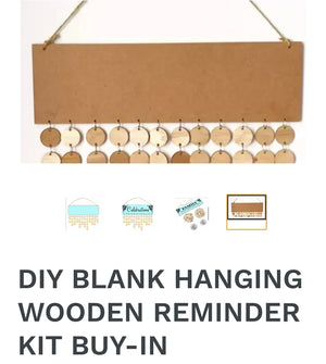 Hanging Wooden Reminder kit