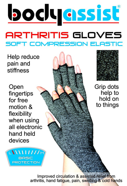 Body Assist - Cotton Arthritis Gloves PICK SIZE Helps to Improve Circulation