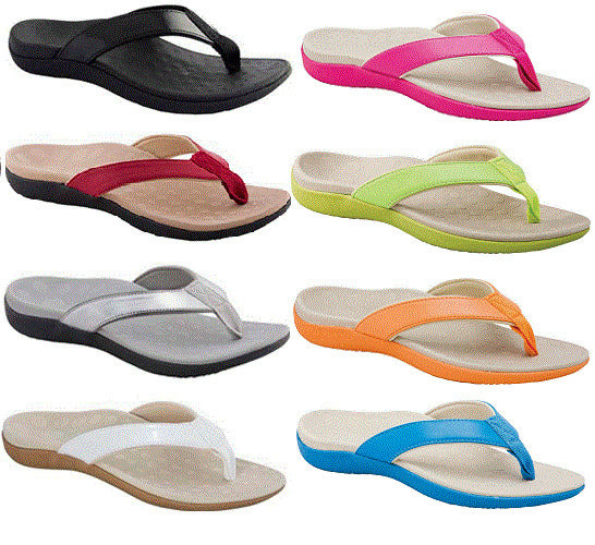 Scholl - Orthaheel Sonoma Thong PICK COLOUR & SIZE Orthopedic Sole Sandle Shoe