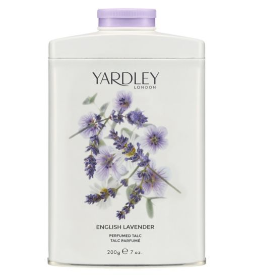 Yardley London - Perfumed Talc 200g ENGLISH LAVENDER Body Powder Womens Scent