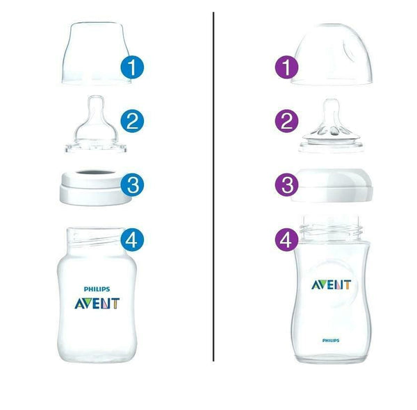 Avent - Anti-Colic Classic Feeding Bottle 1m+ Teat PINK 260ML 2 PACK Baby