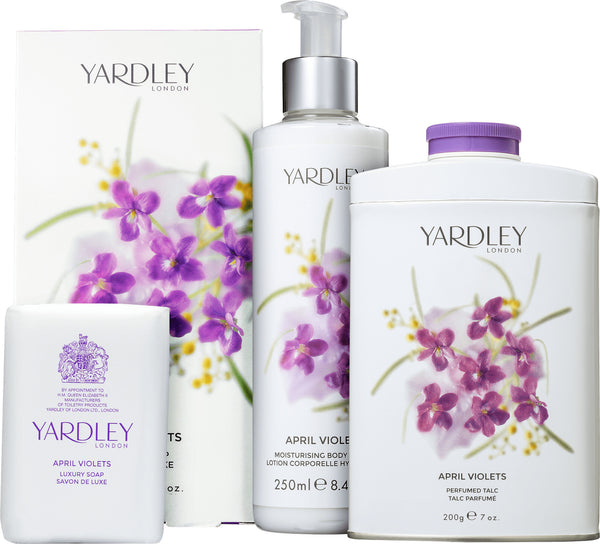 Yardley London - Perfumed Talc 200g APRIL VIOLETS Scented Body Talcum Powder
